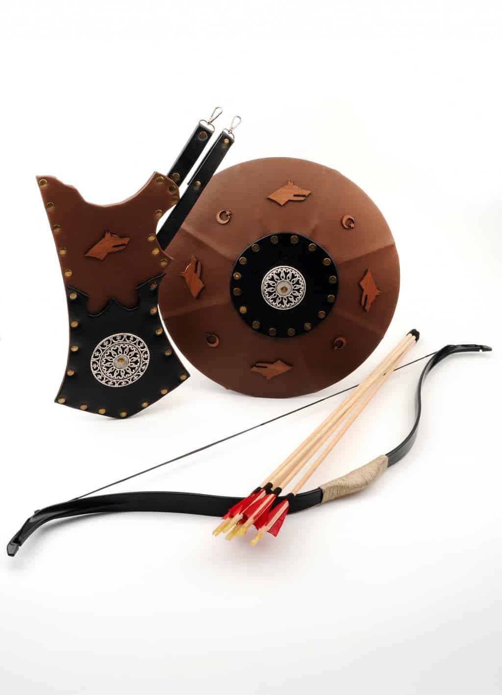 Bow, shield, arrow box