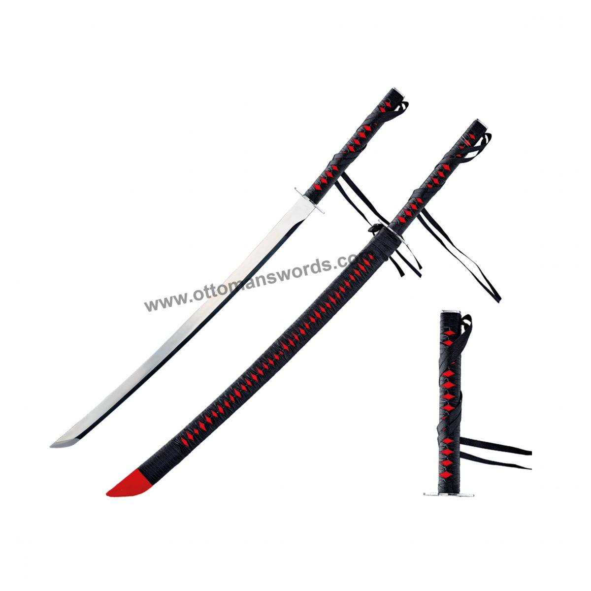 Black samurai sword