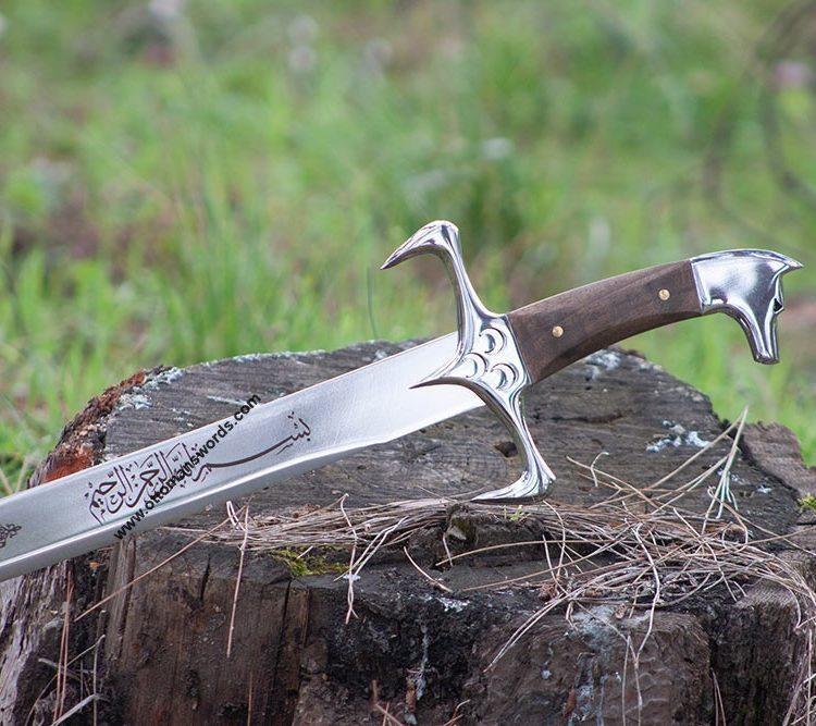 ottoman sword walnut handle
