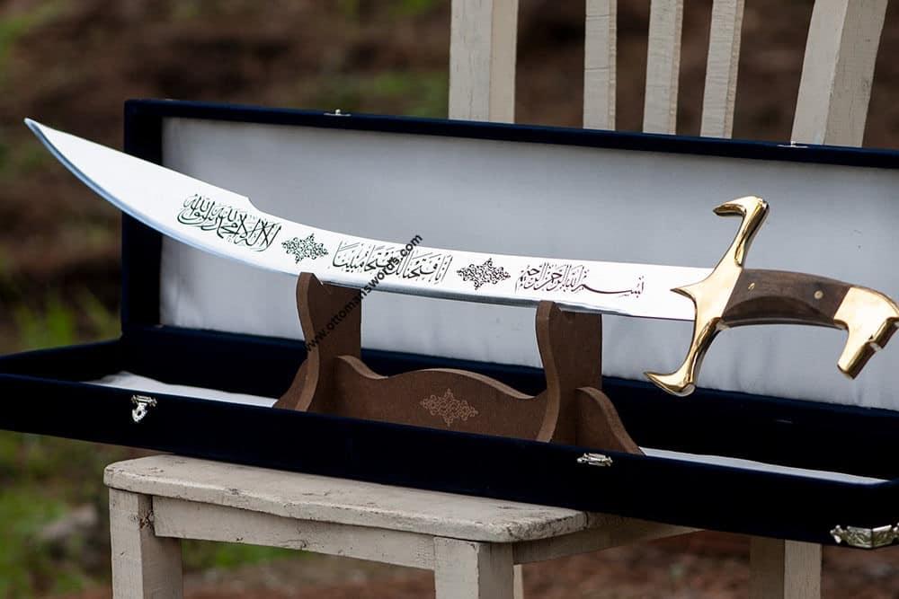 Buy wolf head brass detail ottoman kilij sword 5 Ottoman Kilij