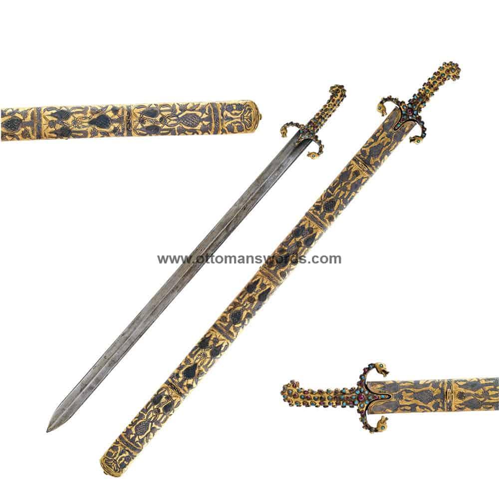 Sacred Relics Al-Mathur Sword Topkapi Museum Replica