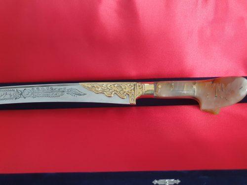 Ram Horn Handle Yataghan Sword photo review
