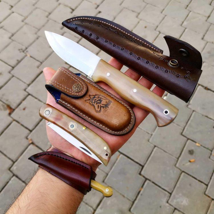Bushcraft Knife, Pocket Knife, Bracelet Knife Set of 3