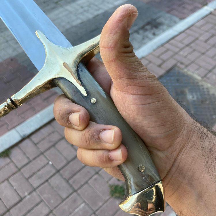 Buy 16 17. Century Ottoman Curved Fuller Horn Handle Sword 11 16-17. Century Ottoman Curved Fuller Horn Handle Sword