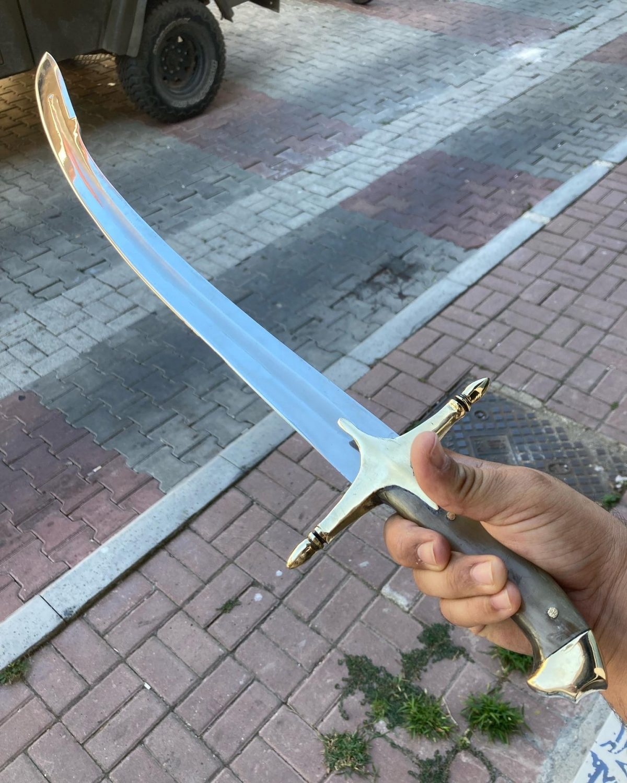 Buy 16 17. Century Ottoman Curved Fuller Horn Handle Sword 12 16-17. Century Ottoman Curved Fuller Horn Handle Sword
