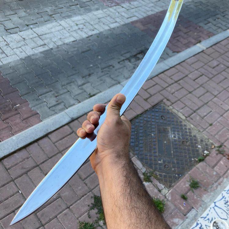 Buy 16 17. Century Ottoman Curved Fuller Horn Handle Sword 13 16-17. Century Ottoman Curved Fuller Horn Handle Sword