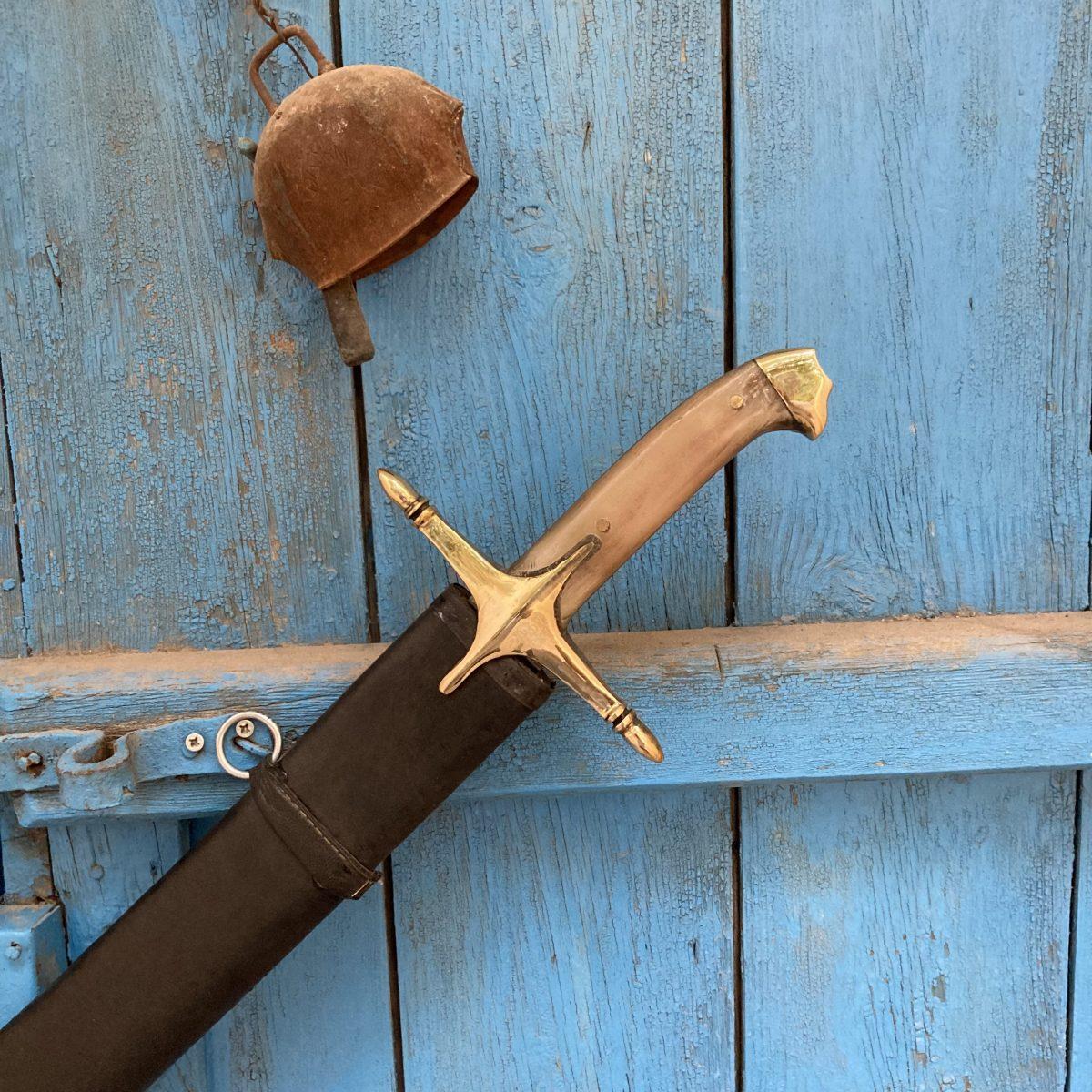 Buy 16 17. Century Ottoman Curved Fuller Horn Handle Sword 7 scaled 16-17. Century Ottoman Curved Fuller Horn Handle Sword