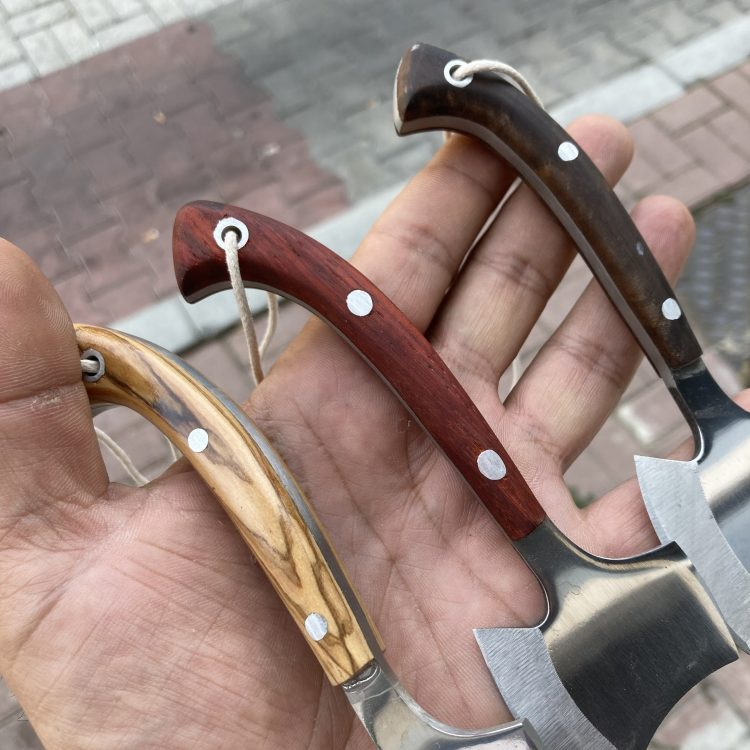 Handcrafted Necklace Camping Axe