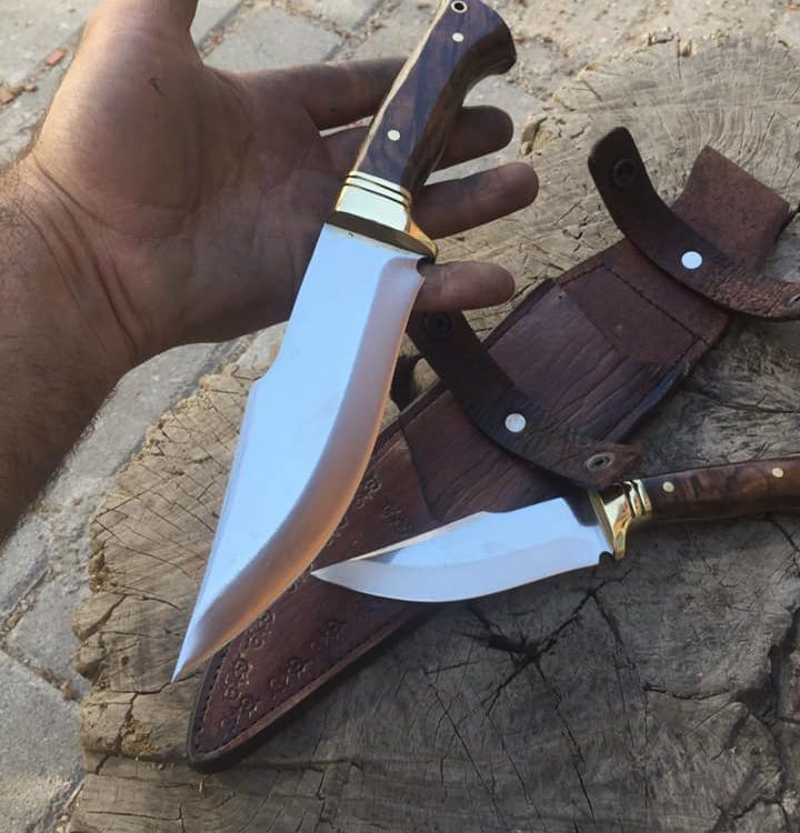 Buy Bushcraft Hunting Double Set Knive 1 Medieval Axe